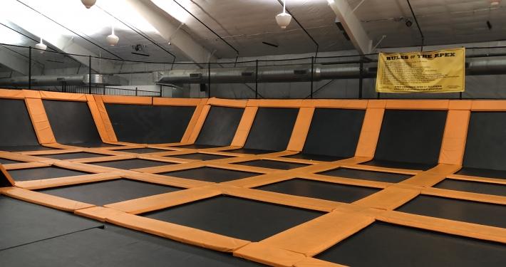 trampoline park design